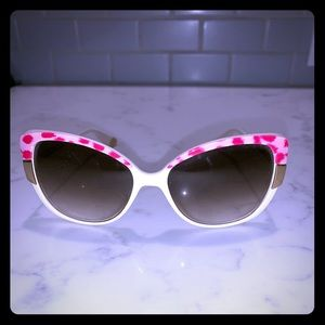 Pink Cheetah and White Juicy Couture Sunglasses